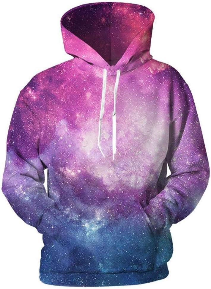 LUO Galaxy 3D Sweatshirts Hommes Femmes Space Sweats à Capuche Impression 3D Décontracté Cool Sweatshirt Hommes 3D Pull Hip Hop Manteau,*** L ** L