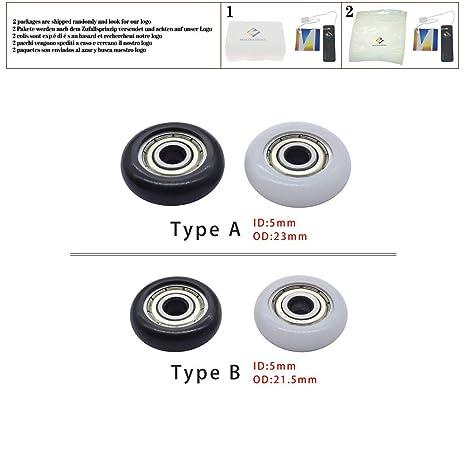 3 unids BT0521 Nylon Rodamientos de acero plástico 5x21.5x7 ...