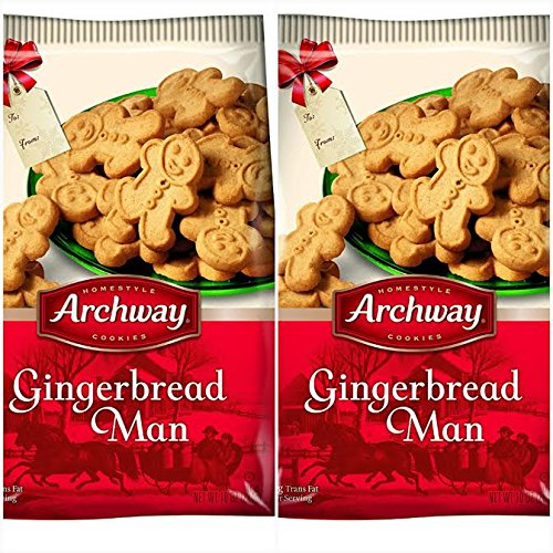 Archway Holiday Gingerbread Man Cookies Twin Pack Bags 10oz Ea Buy