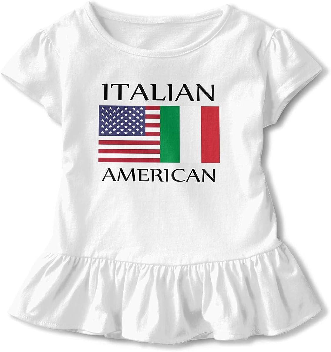 Heart Beat Clipart Toddler//Infant Girls Short Sleeve Ruffles Shirt Tee Jersey for 2-6T