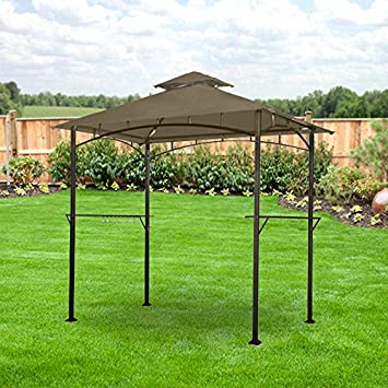 Lighted Grill Gazebo Replacement Canopy - RipLock 350 & Amazon.com : Lighted Grill Gazebo Replacement Canopy - RipLock 350 ...