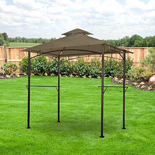 Garden Winds Replacement Canopy For Lighted Grill Gazebo Riplock 350 Ebay