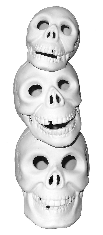 Skull-O-Stack Light up Skulls Paint Your Own Eerie Ceramic Keepsake