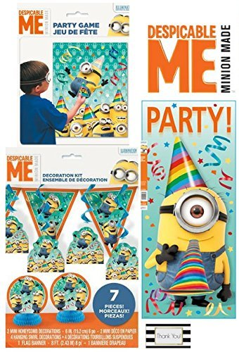 Despicable Me Party Kit - Includes 7 pc Decoration Kit, Door Poster, and Party Game ()