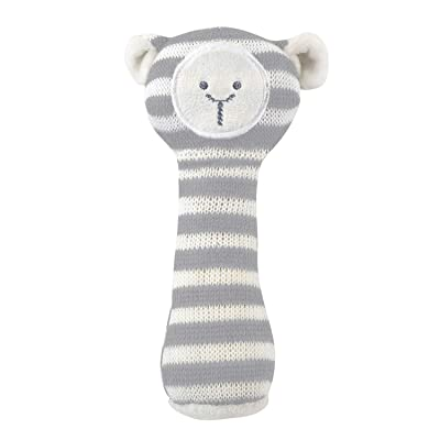 Stephan Baby Knit Animal Rattle, Stripey Gray Lamb : Baby