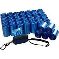 Fiaze Dog Waste Bags with Dispenser, 1400 Counts 40 Roll Dog Poop Bags, Blue