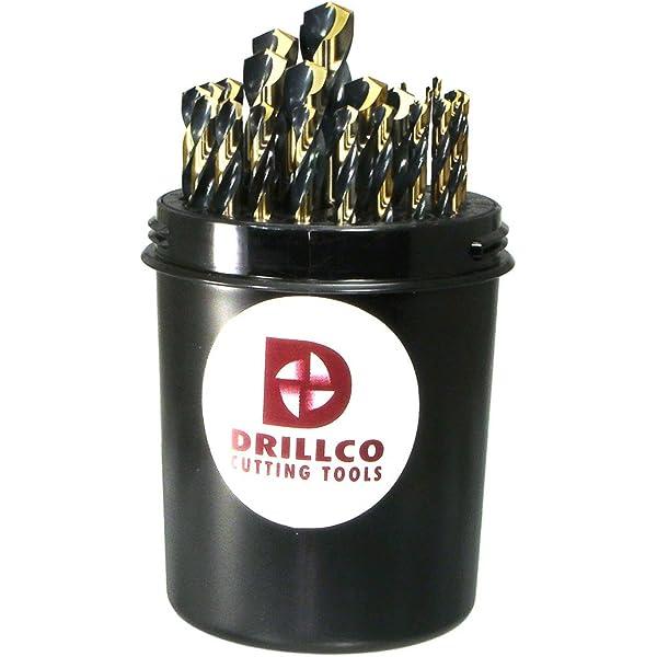 Drillco 8900 Series High-Speed Steel Multi Step Drill Bit Bright Finish Size #5 Round Shank