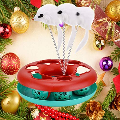 Interactive Cat Toys Tracks Roller Catch Ball Pet Kitten Fun Toy with Teaser Mouse Exercise 8