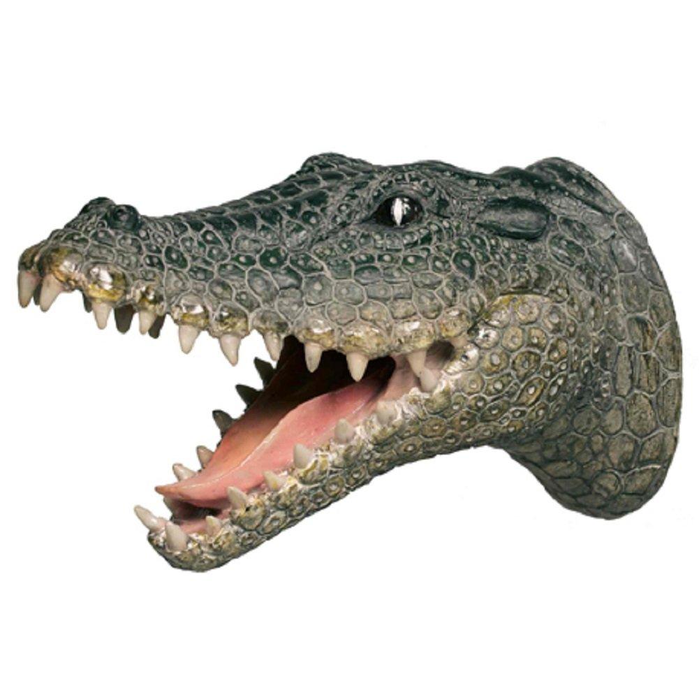 Gator Attack Wall Hook Hanging Crocodile Art Plaque Streamline