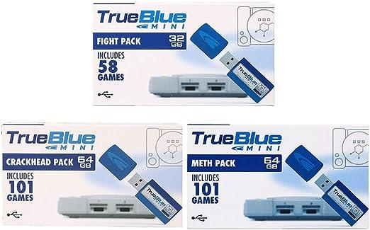 Searchyou True Blue Mini 3 Pack para Playstation Classic, Incluir ...