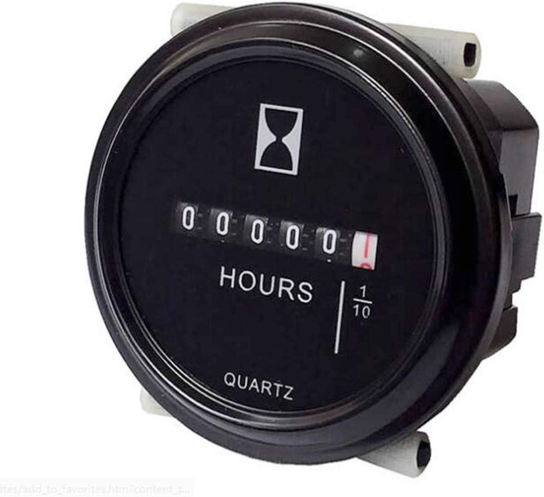 Waterproof 12V 24V 36V Hour Meter For Marine Boat Tractor Engine 2/'/' Round Gauge