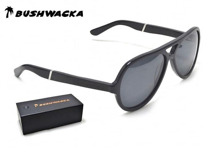 Nuevo Bushwacka Cielo Polarizado Aviador Gafas de sol de madera hechas a mano Gafas de diseñador