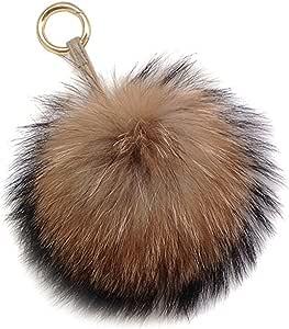 Planner Charm day planner accessory fur pom poms pom pom pendant purse pendant day planner charm Triple Pom Pom zipper pull Fur Charm