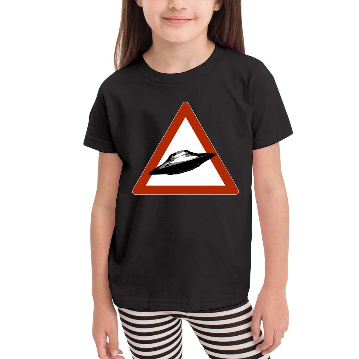 Danger Road UFO Toddler Boys Girls Short Sleeve T Shirt Kids Summer Top Tee 100/% Cotton Clothes 2-6 T