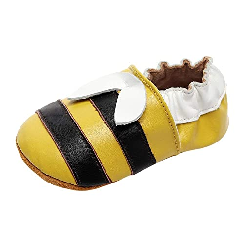 Miyanuby Zapatos Bebe Niña Niño - Dibujos Animados Zapatillas de Cuero Suela Blanda Mocasines Zapatillas de