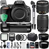 Nikon D5500 24.2MP 1080P DSLR Camera w/ 4 Lens - 18 to 400mm - 30PC Kit + 3YR Warranty - Nikon 18-55VR + Nikon 70-300G + Opteka 2.2x Telephoto + Opteka 0.43x Wide/Macro