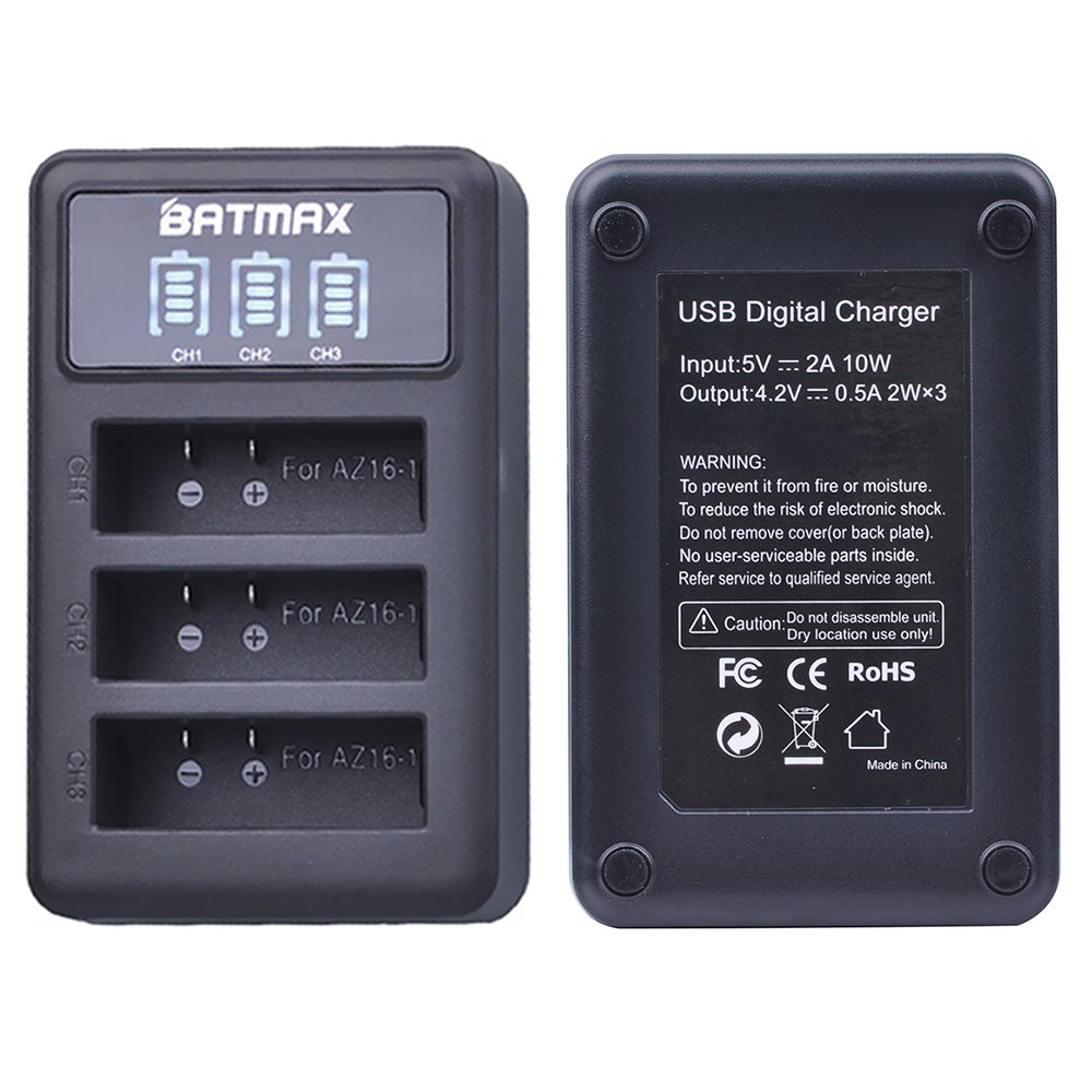 LCD USB Charger for Nikon Coolpix S32,S33,S100,S3100,S3200,S3300,S3500,S3600,S3700,S4100,S4200,S4300,S5200,S5300,S6400,S6500,S6800,S6900,S7000 Digital Camera Batmax 2Pcs EN-EL19 ENEL19 Battery