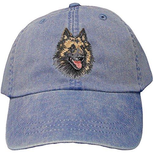 Cherrybrook Dog Breed Embroidered Adams Cotton Twill Caps - Royal Blue - Belgian Tervuren