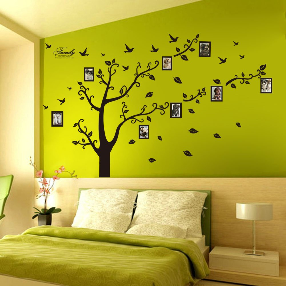 amazon com dagou huge 6 ft h x 9 ft w memory family tree amazon com dagou huge 6 ft h x 9 ft w memory family tree photo 1set diy flower love world large art decor home stickers removable vinyl wall decals