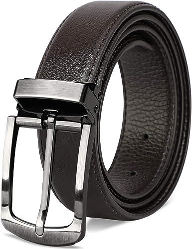 NEWHEY Cinturon Hombre Cuero Cinturones Piel Cinturón Hombre Jeans ...