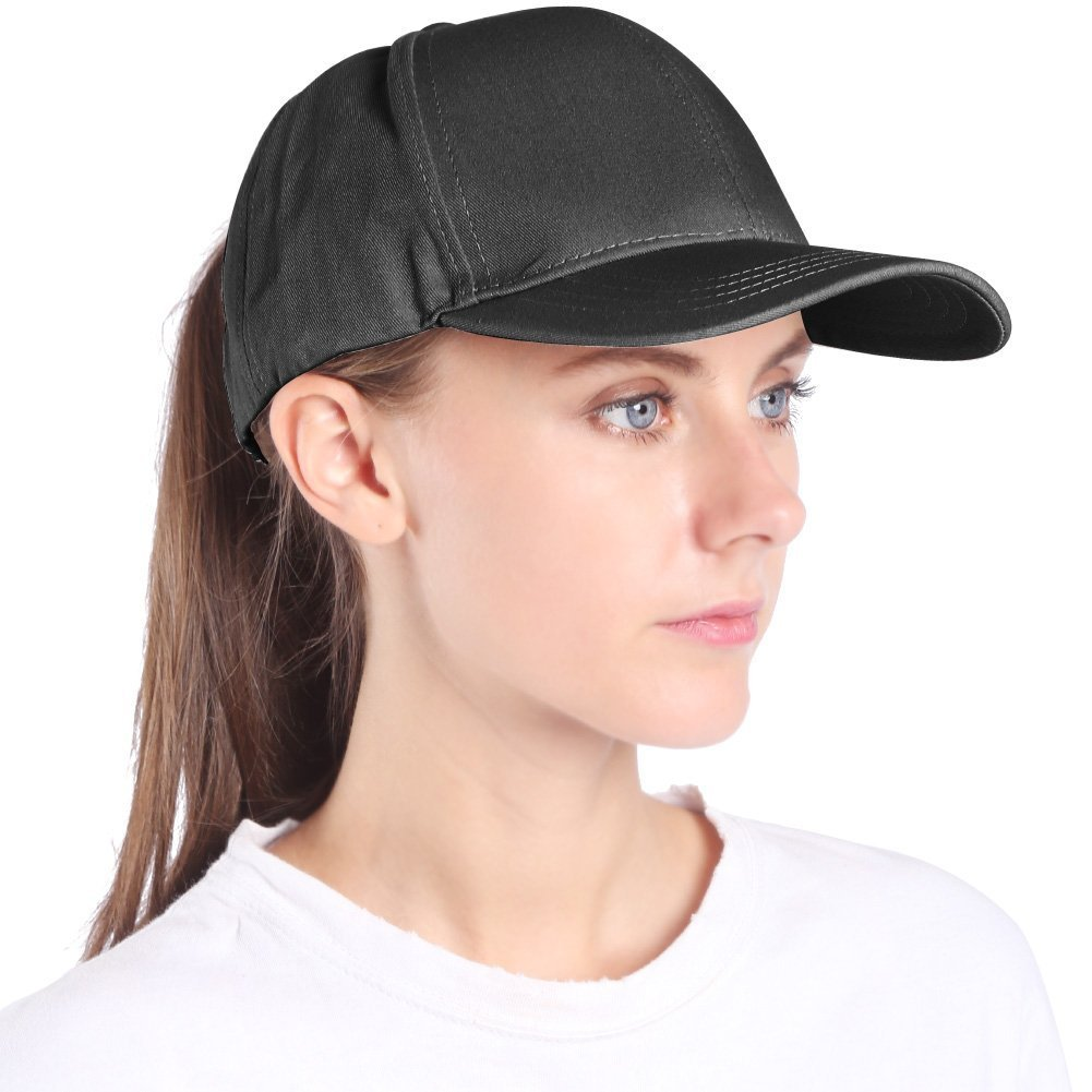 Women snapback running hat ponytail black golf caps travel cotton messy ponycaps grey Dad hat visor adjustable womens plain baseball hats