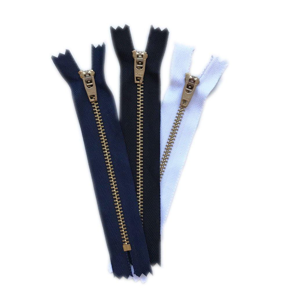 6 Zippers//Pack= Navy 2, Black 2, White 2 4,5,6,7 Over Kleshas Jeans Metal Zipper 7