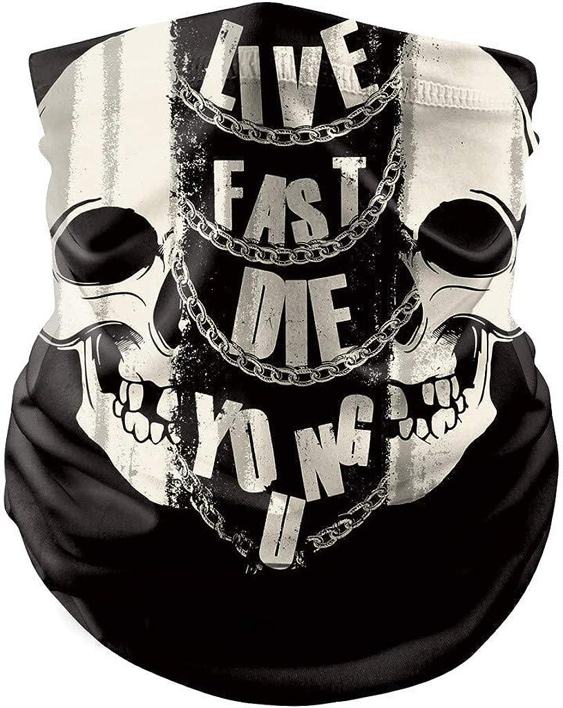 Kopfbedeckung Halloween Party Outdoor Halbmaske catmoew Motorradmaske im Totenkopf-Design Hals Sch/ädel Maske f/ür das Motorradfahren Gesichtsmaske Ski Sport