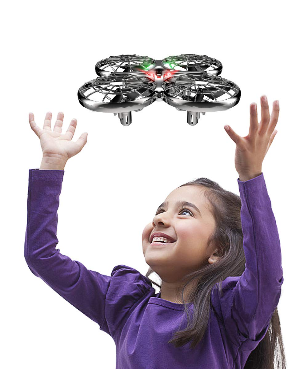 Mini Drone Flying Toy RC Drones for Kids or Adults, Hands Free Operated UFO RTF Helicopter Plane, Easy Indoor Outdoor Flying Ball Drone Toys for Boys Girls by SYMA