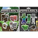 JINX Minecraft Sticker Party Pack (Monsters, Animals), 11 Stickers