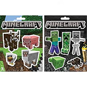 Minecraft Sticker Party Pack (Monsters, Animals), 11 Stickers
