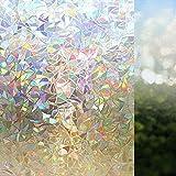 Rabbitgoo 3d No Glue Static Decorative Privacy Window Films for Glass ...