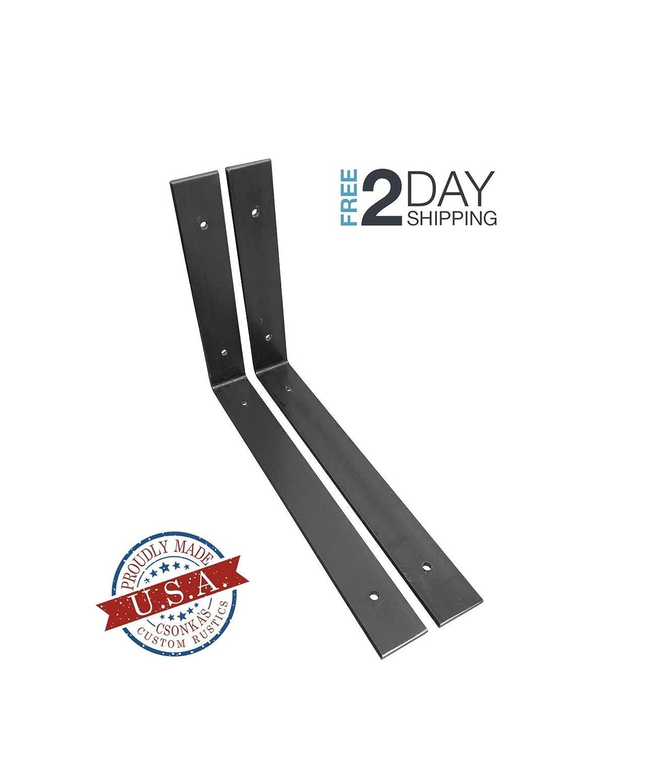 "2 Pack - 12""L x 8""H Angle Shelf Bracket, Iron Shelf Brackets, Metal Shelf Bracket, Industrial Shelf Bracket, Modern Shelf Bracket, Shelving 61YC0PsZRhL"