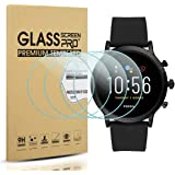 Suoman 4-Pack for Fossil Men Gen 5 Carlyle Screen Protector Tempered Glass, HD Tempered Glass Screen Protector for Fossil Men