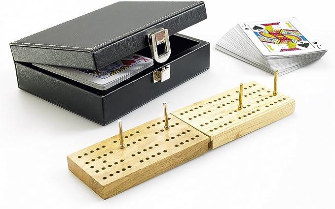 Gibsons G356 - Crib, Juego de Cartas en Estuche de Piel sintética: Amazon.es: Juguetes y juegos