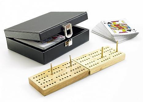 Gibsons G356 - Crib, juego de cartas en estuche de piel ...