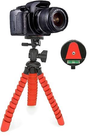 MyGadget Mini Trípode Ultra Flexible Portatíl para Cámara Reflex con Liberación rápida de Placa - Montaje Universal 360° con Base de Soporte Pulpo - ...