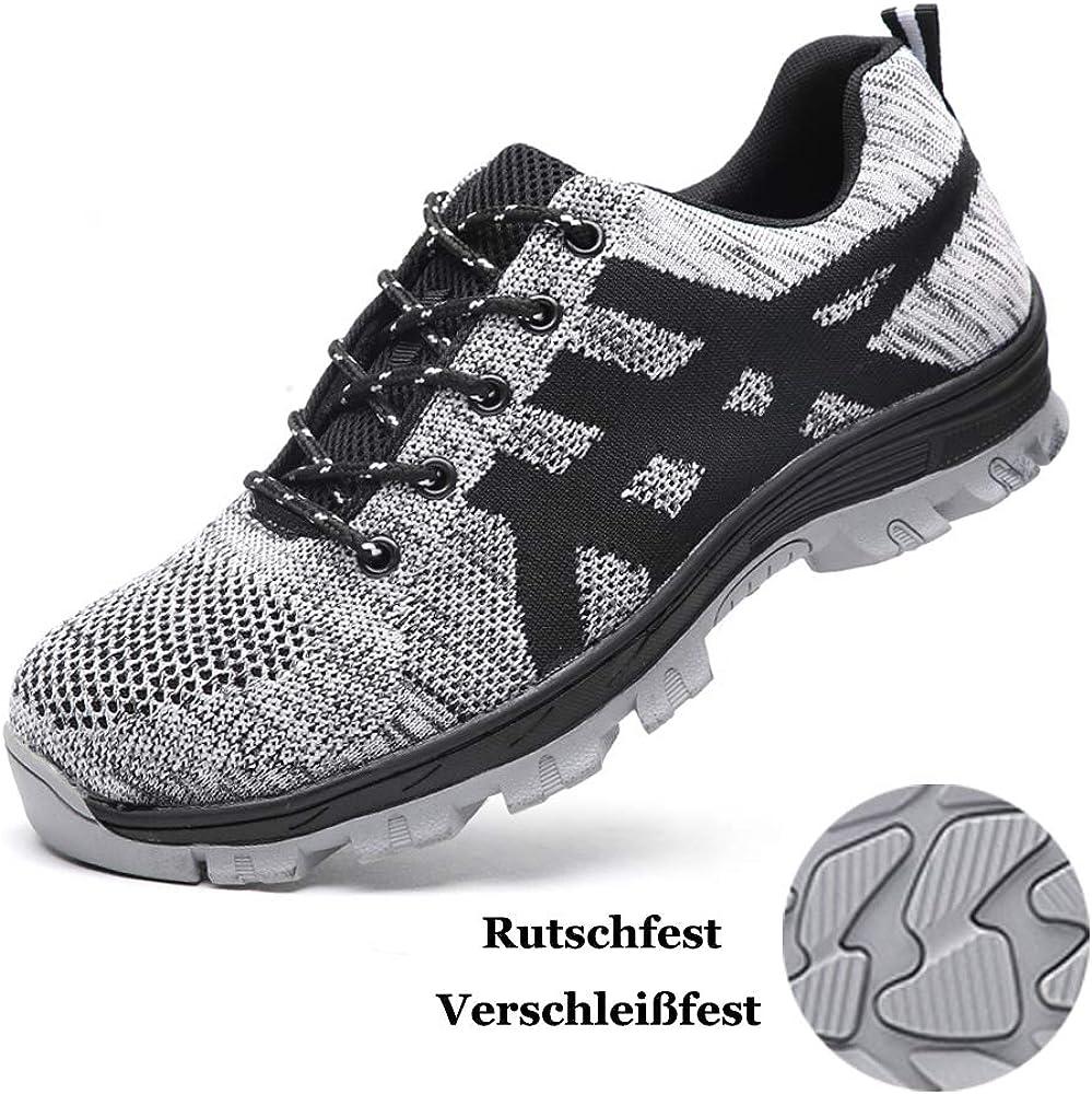 Zapatos de Seguridad para Hombre Mujer con Puntera de Acero ...