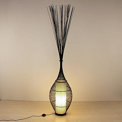 Lámpara De Pie De Bambú del Zen Chino Retro Sala De Estar ...