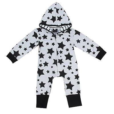 0-24M Infant Toddler Baby Boy Girl Long Sleeve Hoodie Romper Jumpsuit  Bodysuit c0d0007e2bef