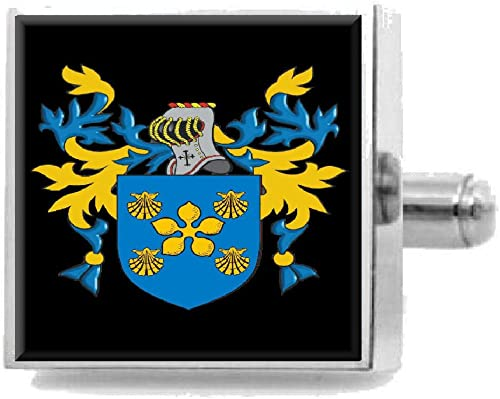 Select Gifts Mcmullan Ireland Heraldry Crest Sterling Silver Cufflinks Engraved Box