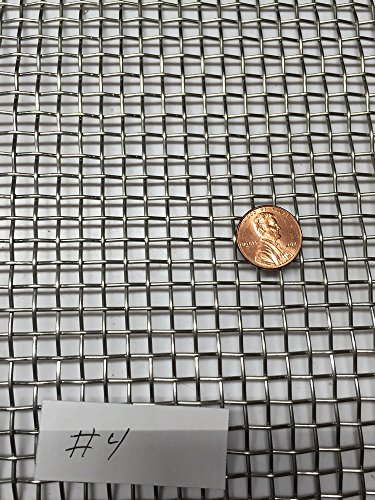 [ASC Stainless Steel Mesh 304,#4 .047 Wire,Cloth,Screen,Woven wire 12