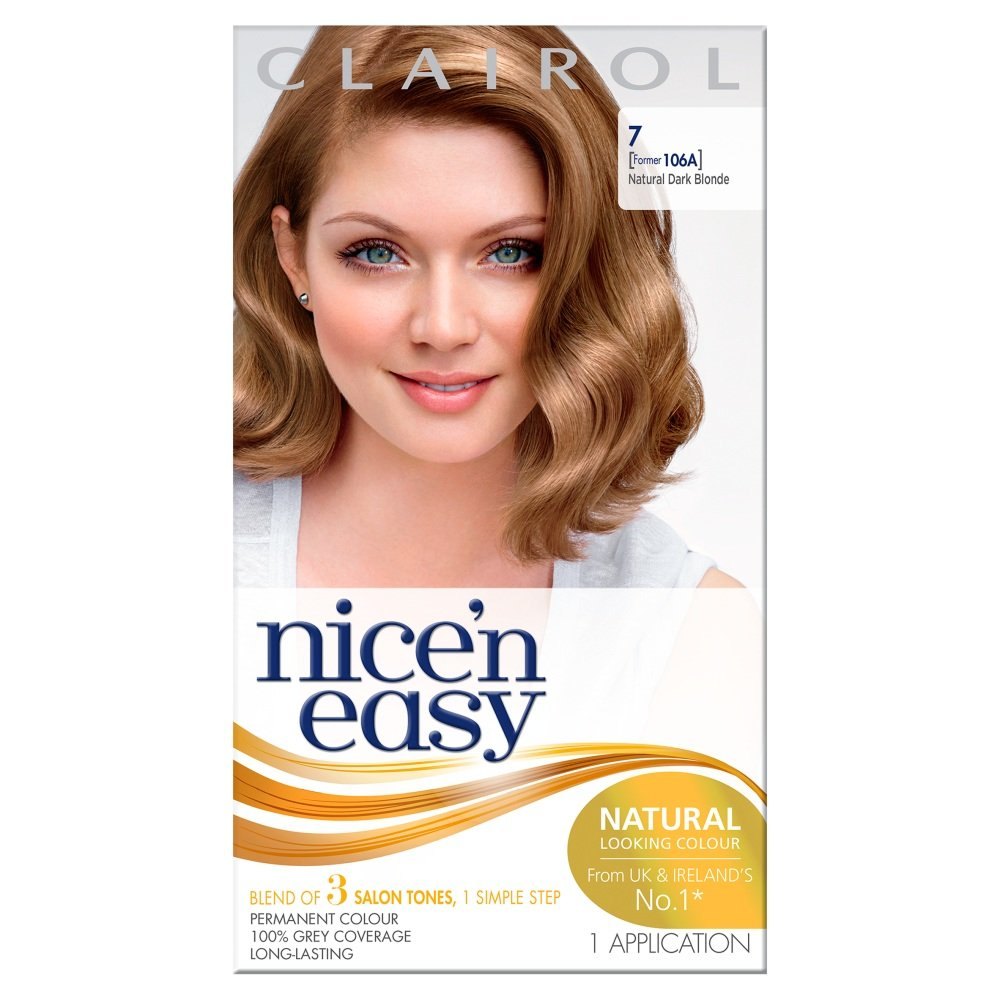 Garnier belle color 73 dark golden blonde dark brown hairs - Nice N Easy Permanent Hair Dye Natural Dark Blonde 7 Amazon Co Uk Beauty