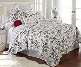 Holly King Quilt Set, White/Red, Cotton Christmas Holiday
