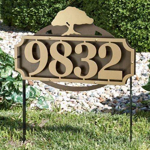 Touch Of Class Metal La Casa Tree Address Yard Sign Gold/Bronze Yard