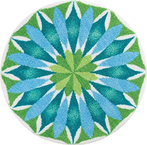 Grund Designer Series Accent/Bath Rug, Sunrise, 48-Inch buy 48-inch, Light Blue/Green