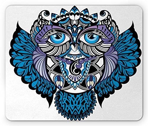 New School Owl Tattoo - Ambesonne Tribal Mouse Pad, Owl Bird