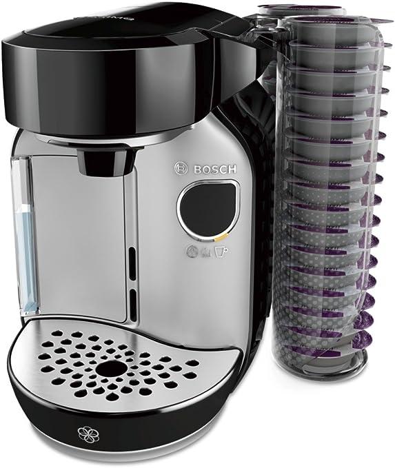 Bosch TAS75SE2 eléctrica Independiente Máquina de café Negro, Acero Inoxidable 1,2 L Totalmente automática, Cafetera de cápsulas, 1300 W, 1.2 litros: Amazon.es: Hogar