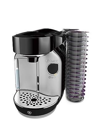 Bosch TAS75SE2 eléctrica Independiente Máquina de café Negro, Acero Inoxidable 1,2 L Totalmente automática, Cafetera de cápsulas, 1300 W, ...