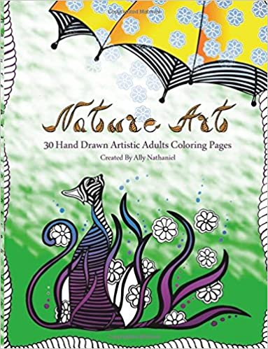 Amazon Com Nature Art Hand Drawn Adults Coloring Book 30