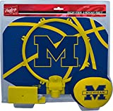 NCAA Michigan Wolverines Kids Slam Dunk Hoop Set, Blue, Small